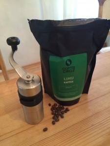 porlex Kaffeemuehle und Kaffee