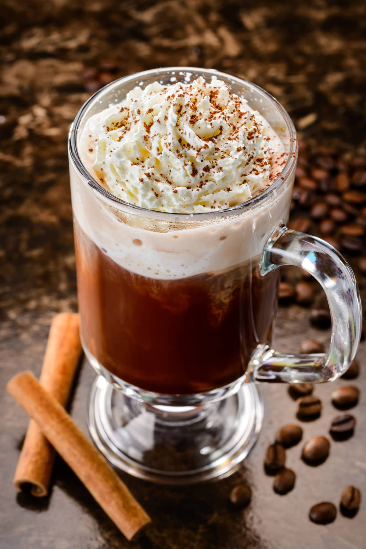 Irish Coffee mit Espresso
