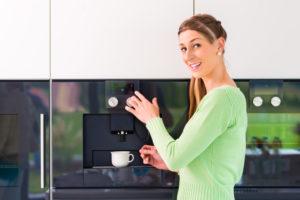 Funktions-Wahl beim Kaffeevollautomat